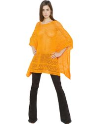 Emilio Pucci - Crocheted Cotton Poncho - Lyst