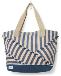 TOMS - Indigo Stripe Mix Lakeside Tote - Lyst
