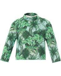 Emma Cook Tropical-Print Neoprene Sweater - Lyst