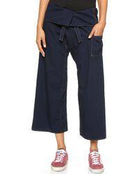 Basic Terrain - Eden Crop Trousers - Deep Indigo - Lyst