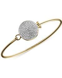 Michael Kors Crystal Pavé Disc Bangle Bracelet - Lyst