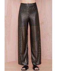 Nasty Gal Hard Wear Metallic Pant - Lyst