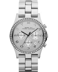 Marc By Marc Jacobs Women'S Chronograph Henry Stainless Steel Bracelet Watch 40Mm Mbm3104 - Lyst