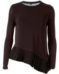 Neil Barrett Pleated Hem Sweater - Lyst