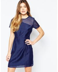Sugarhill - Dress In Stripe Organza - Lyst