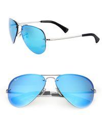 Ray-Ban | 59mm Mirrored Metal Aviator Sunglasses | Lyst