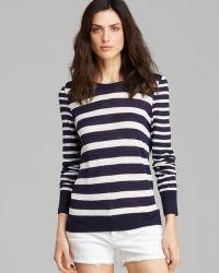 Equipment Sweater Shane Nautical Stripe Crewneck - Lyst