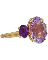 Dinny Hall | Amethyst Three Stone Georgia Ring | Lyst