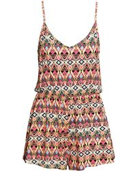 H&M Patterned Playsuit - Lyst