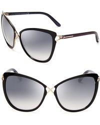 Tom Ford - Celia Cat Eye Sunglasses - Lyst