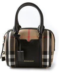 Burberry - Sartorial House Check Mini Bowling Bag - Lyst