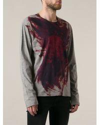 Yohji Yamamoto Painterly Print Tshirt - Lyst