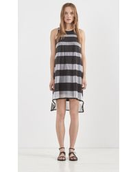 Band of Outsiders Stripe Trapeze Dress - Lyst