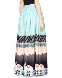 Helen Lee - Oriental Rabbit Print Maxi Skirt - Lyst