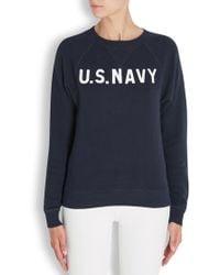 NLST - Raglan Army Navy Printed Cotton Sweatshirt - Lyst