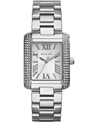 Michael Kors Women'S Mini Emery Stainless Steel Bracelet Watch 33X27Mm Mk3289 - Lyst