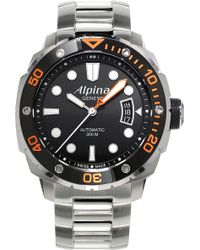 Alpina - Al-525lbo4v26b Extreme Diver 300 Stainless Steel Watch - Lyst