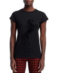 Stella McCartney Stallion Applique Tshirt Black - Lyst