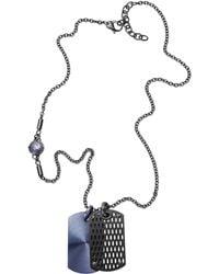 Diesel Gray Necklace Dx0883 - Lyst