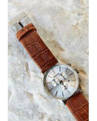 Nixon Sentry Chrono Leather Watch - Lyst