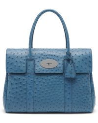 Mulberry Bayswater blue - Lyst
