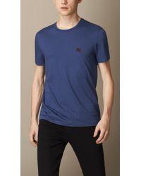 Burberry Liquid Soft Cotton Tshirt - Lyst