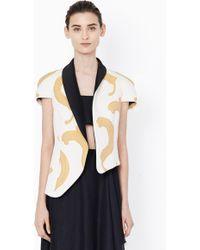 3.1 Phillip Lim Cap Sleeve Blazer With Freeform Asymetrical Hem - Lyst