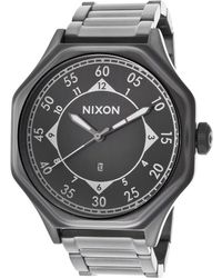 Nixon Mens Falcon Gunmetal Steel and Dial - Lyst