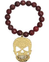 Rita & Zia - Agate Skulls Bracelet - Lyst