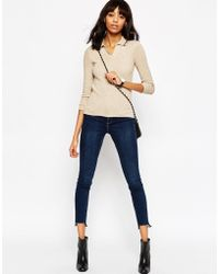 ASOS | Jumper With Polo Collar In Rib And Cashmere Mix | Lyst