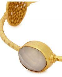 Ashiana - Mia 22Kt Gold-Plated Bracelet - Lyst