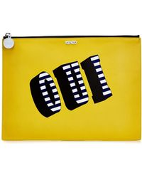 KENZO - Oui And Non Leather Pouch - Lyst