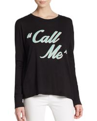 Wildfox Call Me Graphic Pullover - Lyst