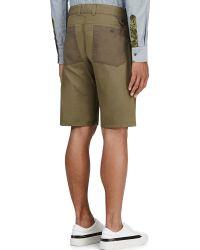 White Mountaineering - Khaki Cargo Shorts - Lyst