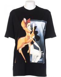 Givenchy T-Shirt In Cotton Front Bambi black - Lyst