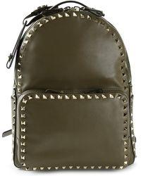 Valentino Green 'Rockstud' Backpack - Lyst