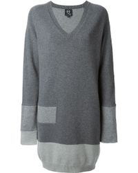 McQ by Alexander McQueen Tonal Panel Long Sweater - Lyst
