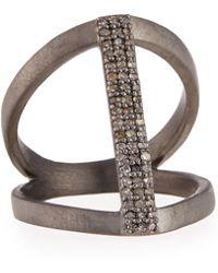 Siena Jewelry - Vertical Diamond Bar Ring - Lyst