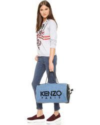 KENZO - Denim Duffel Bag - Cobalt - Lyst