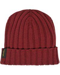 Borsalino Extra Fine Merino Wool Knit Beanie Hat - Lyst
