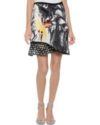 3.1 Phillip Lim Skirt With Cord And Embroidery - Black/Mimosa - Lyst