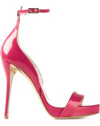 Oscar de la Renta Ankle Strap Stiletto Sandals - Lyst