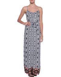 Twelfth Street Cynthia Vincent Zip Front Maxi Dress with Belt - Lyst