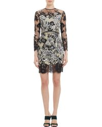 Huishan Zhang Floralembroidered Lace Longsleeve Dress - Lyst