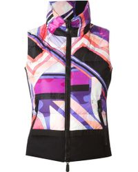 Emilio Pucci Printed Padded Vest - Lyst