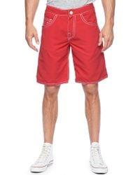 True Religion Ricky Big T Stitch Mens Boardshort red - Lyst
