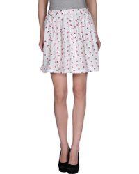 Zoe Mini Skirt - Lyst