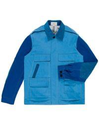 Paul Smith Indigo-Dyed Waterproof Multi-Pocket Utility Jacket - Lyst