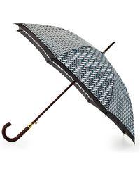 Adrienne Vittadini Legacy-Print Curved-Handle Umbrella - Lyst
