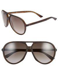 Gucci 61Mm Aviator Sunglasses - Lyst